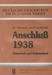 Anschluß 1938 – Österreich und Sudetenland