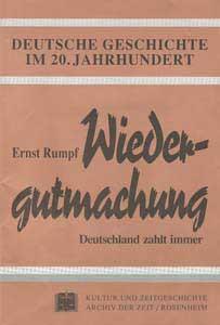 Wiedergutmachung. Deutschland zahlt immer