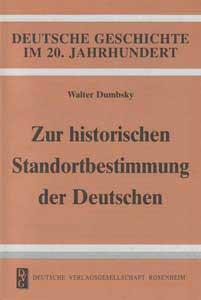 Zur historischen Standortbestimmung der Deutschen